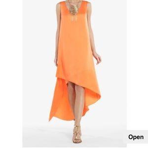 Bcbg asymmetrical slip dress